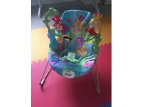 Fisher price vibrating jungle bouncer chair