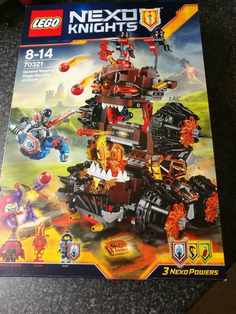 LEGO 70321 Nexo Knights New /& Sealed GENERAL MAGMAR/'S SIEGE MACHINE