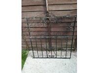 Single wrought iron gate with fittings