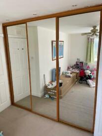 3 Mirrored Wardrobe Doors