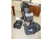 Pram Mammas and Papas Pramette and car seat with accessories