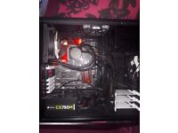 GAMING PC CASE + CPU & CLOSED CPU WATERCOOLER - WELL MAINTAINED