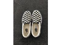 Checkered vans size 6