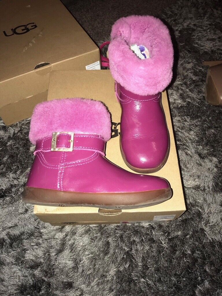 4e59378b89f In Wore 9 Patent Uk Melton Only Boots Genuine Pink Size Twice Ugg XwUSSv