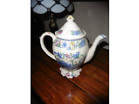 MASON'S VINTAGE HAND PAINTED COFFEE POT IN PERFECT ORDER