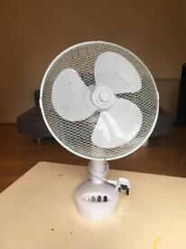 Three Speed White Desk Fan
