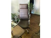 hjh OFFICE 600904 executive chair ASPERA 20 leather brown ergonomic office chair