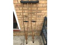 Vintage crutches