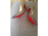 Size 3 Christian louboutin colour changing heels