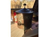 Antique copper coal bin
