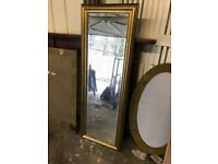 2 Rectangular gold framed mirrors. Available separately. £5 each