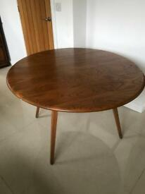 Ercol dining table 1970's light wood