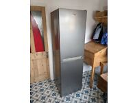 Beko Silver Upright Fridge Freezer - Model CFG1582S great condition, frost free