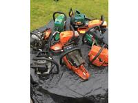 9 chainsaw lot husqvarna Dolmar Qualcast chain saws chainsaw parts repair spares mower engine petrol