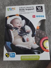 Car seat liner with head support