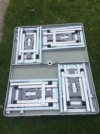 Picnic table folding