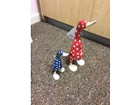 Two brand new hand crafted in Bali ducks - homeware