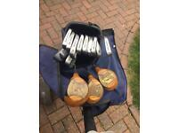 Full set of Golf Clubs with bag & stand