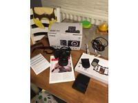 Like new Canon EOS M3 camera with lens, box, card and extras RRP 500£