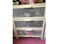 Three door chest of drawers