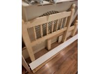 White 2ft 6 solid pine single bed (without Mattress)