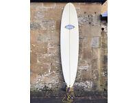 CAN SHIP, Aloha Perf. Longboard Surfboard 8'0, SET, thruster, leash, fins, bag, minimal