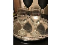 """Champagne Flutes engraved """"Best Wishes"""""""