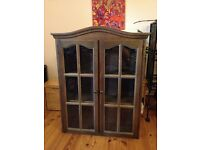 Brown wooden glass fronted cabinet £40 ONO