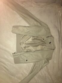 Cream leather look jacket size 10 (tight fit would recomend to a size 8)