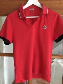 Boys/men's Moncler polo top size small