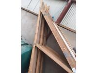 Timber trusses.