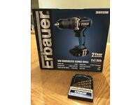 Brand new Erbauer 18v brushless combi drill