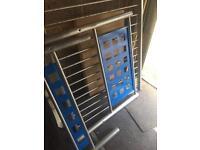 Blue metal single bed frame