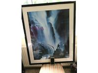 Large scenic waterfall picture