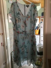Blue Floral Dress Dorothy Perkins Size 24 UK