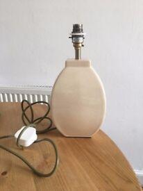 John Lewis Cream Ceramic Lamp Base