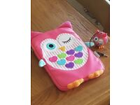 Owl tablet case and speakers