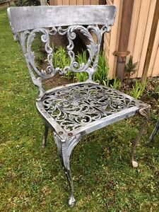 Antique Cast Metal Gothic Chairs
