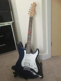 Aria electric guitar - with amp, bag, stand, tuner and tutorial CD-ROM