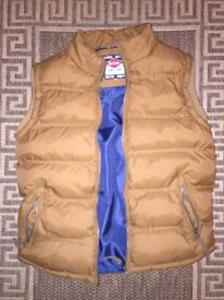 Lee Cooper Body Warmer Vest Jacket Brown Size L
