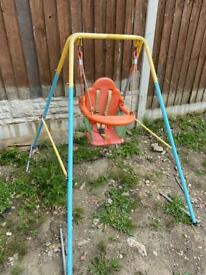 Outdoor baby toddler swing