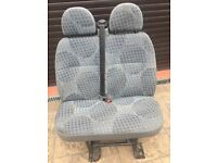 Ford transit van seats/ double seat *passenger or rear* with seat belts