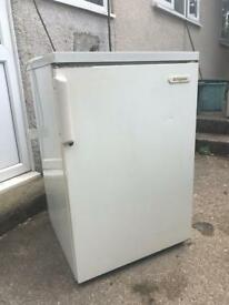 Under counter fridge with freezer compartment