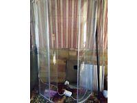 Shower enclosure offset quadrant