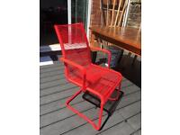 Ikea Vasman Chair (red)