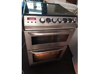 Zanussi Electrolux double electric oven and electric glass hob. Stainless steel. Delivery