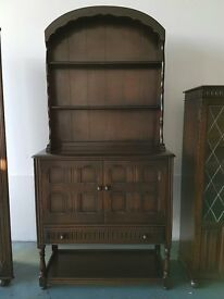 SOLID WOOD ERCOL DUTCH DRESSER DELIVERY AVAILABLE