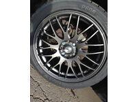 Alloy wheels, brand new tires