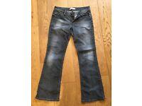 Levi's 572 bootcut jeans black/grey 30x30