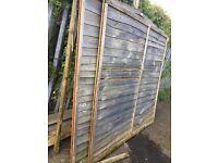 4 large used fence panels free